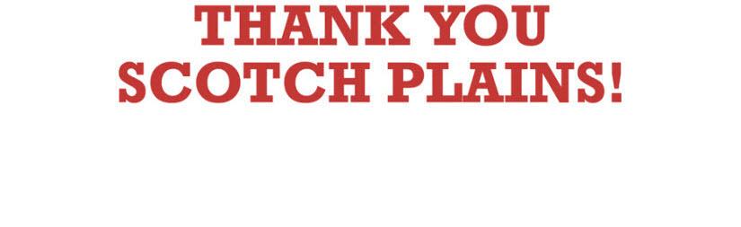 Thank You Scotch Plains